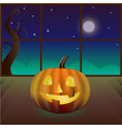 magic pumpkin in the room vector image vector image