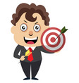 man with target on white background vector image vector image