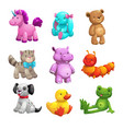my first friends funny textile stuffed toys set vector image vector image