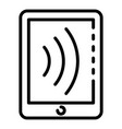 nfc tablet icon outline style vector image vector image