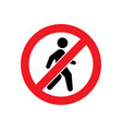 no pedestrian access or do not walk symbol vector image