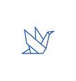 origami line icon concept origami flat vector image