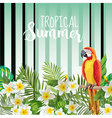 Parrot Bird Background Retro Pattern Tropical vector image vector image