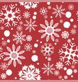 pattern seamless snowflake vector image vector image