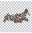 people map country Russia vector image