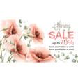 pink poppy spring card watercolor sale vector image vector image