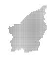 pixel map of san marino dotted map of san marino vector image vector image