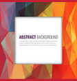 polygonal background with abstract multicolored vector image vector image