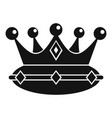 queen crown icon simple style vector image