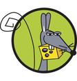 Rat cheese logo vector image vector image