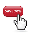 Save 70 Button vector image vector image