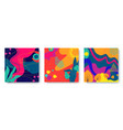set bright abstract cards with tropical leaves vector image vector image