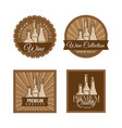 set labels for wine vector image