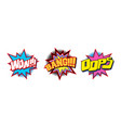 set of comic text sound effect vector image vector image