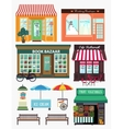 shops and vitrine elements seamless pattern vector image vector image