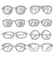 sketch sunglasses hand drawn eyeglass frames vector image vector image