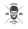 skulls logo vector image vector image