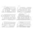 small tiny houses modern mobile trailers vector image