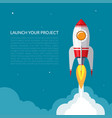 space rocket launch background vector image vector image