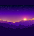 sunset at mountain vector image
