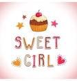 Sweet girl vector image vector image