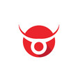 taurus logo template icon vector image vector image