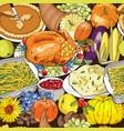 thanksgiving autumn seamless pattern vector image