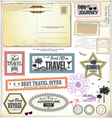 Travel design elements vector image