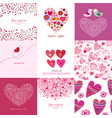 Valentines day set - greeting cards love
