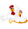 White Chicken Family vector image vector image