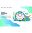 woman biological clock website landing page vector image