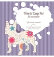 World day pet background vector image vector image