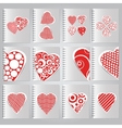 Set of covers for the design of notebooks vector image