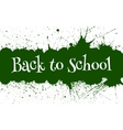 Back to School Banner With Ink Green Blots vector image