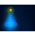 3d christmas tree vector image