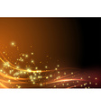 Abstract modern shimmering light flare wave vector image vector image