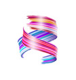 abstract paint brush stroke colorful curl of vector image