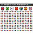 All national flags world circle metal