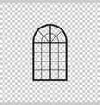 arched window icon on transparent background vector image