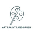 artspaints and brush line icon arts vector image