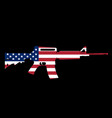 assault rifle and flag vector image vector image