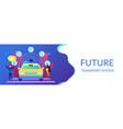 autonomous driving concept banner header vector image vector image