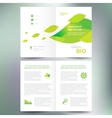 booklet catalog brochure folder bio eco green leaf vector image vector image