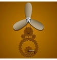 Brown gears vector image