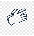 clap hands concept linear icon isolated on vector image