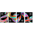 colorful brush strokes vertical banners