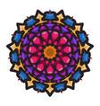 colorful mandala art with floral motifs element