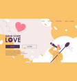 concept landing page with a boy looks vector image