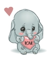 cute little cartoon elephant vector image