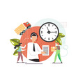 delivery call center flat style design vector image vector image